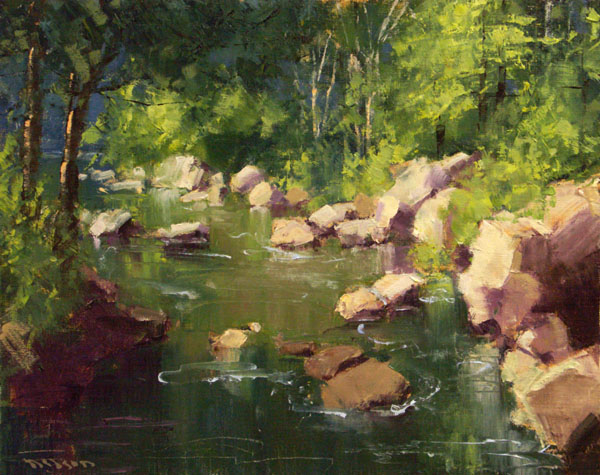 A Quiet Flow Among the Rocks