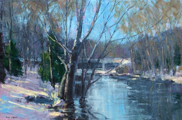 Winter River at Delta Mills