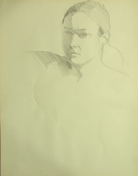 Protrait head, reclining