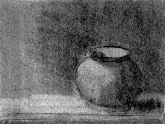 Still Life with Ceramic Pot