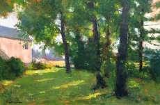 Poplars Against the Light